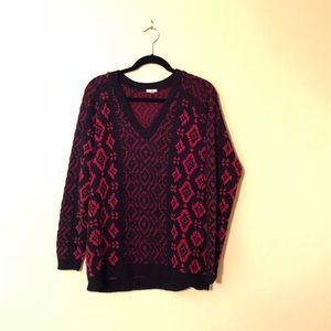 Ecoté Red and Black Sweater